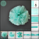 DIY: cómo hacer pompones de plástico para fiestas
