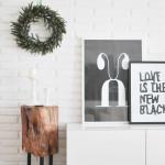 Decoración navideña: el salón