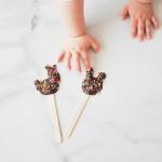 Piruletas de chocolate para hacer con niños
