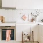 Panel de ladrillos en la cocina