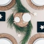Inspiración para una mesa navideña